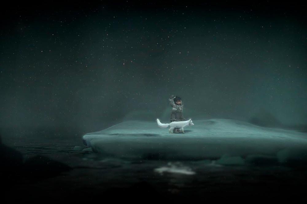 Игра Never alone — про девочку из народа инупиатов, которая живет на Крайнем Севере с ручным песцом. Очень атмосферная и красивая