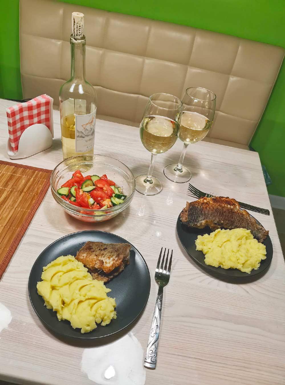Вот такой вот получился романтический ужин
