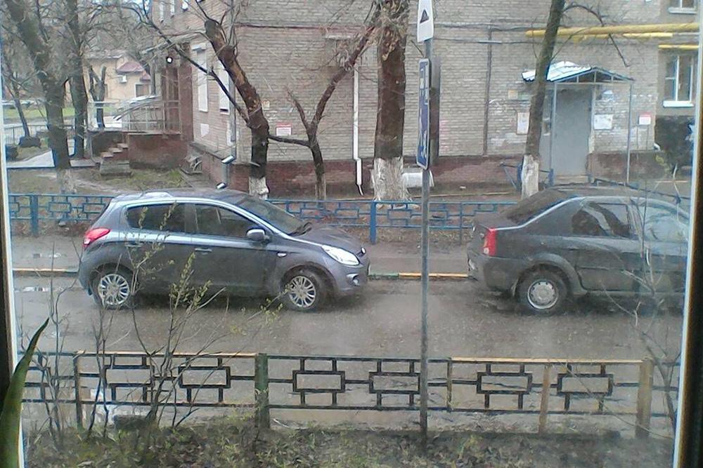 Пасмурный вид из окна