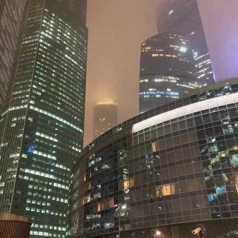 «Москва-Сити» после заката