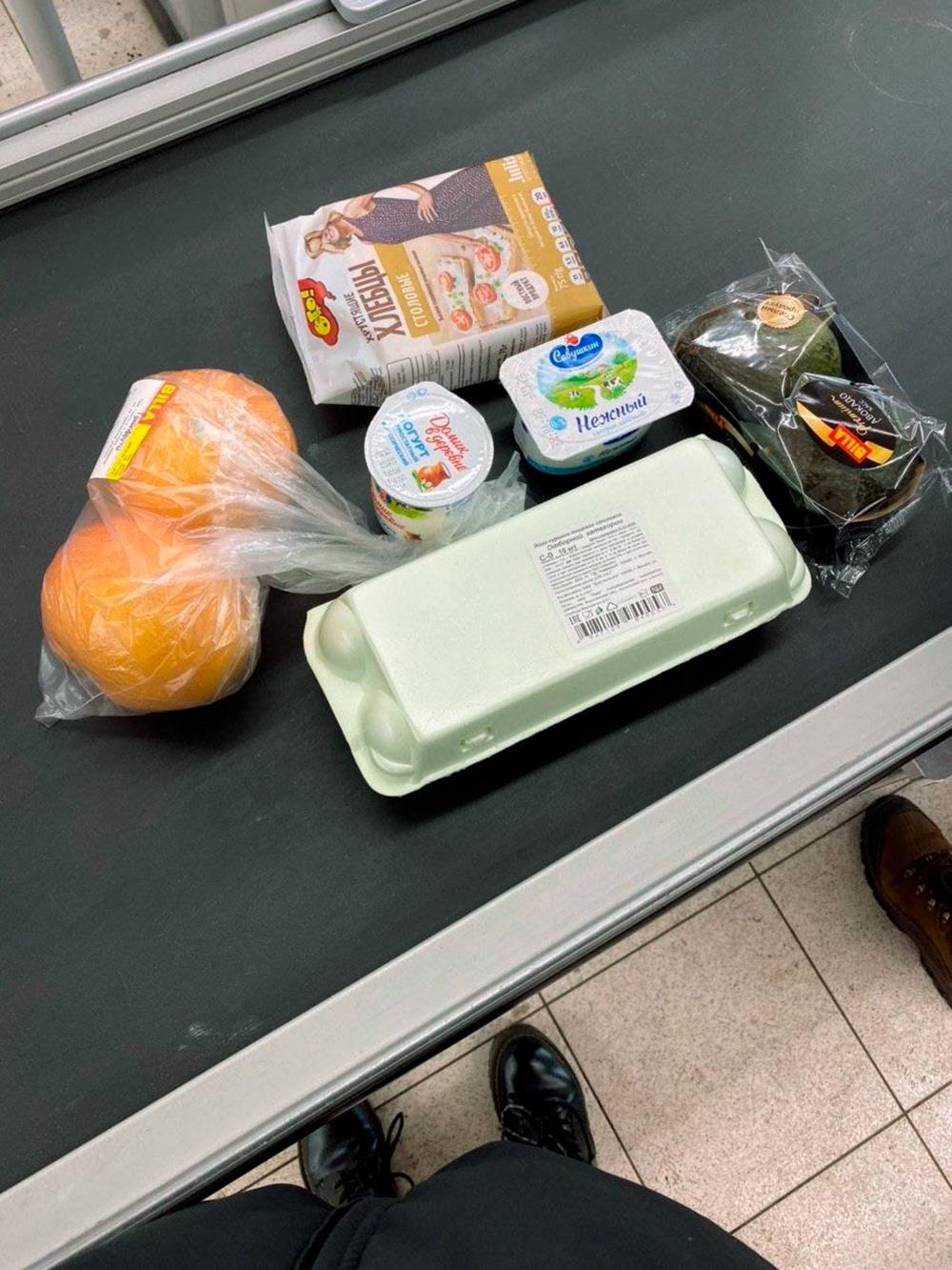 Купила грейпфруты, яйца, хлебцы, творог и авокадо длятостов