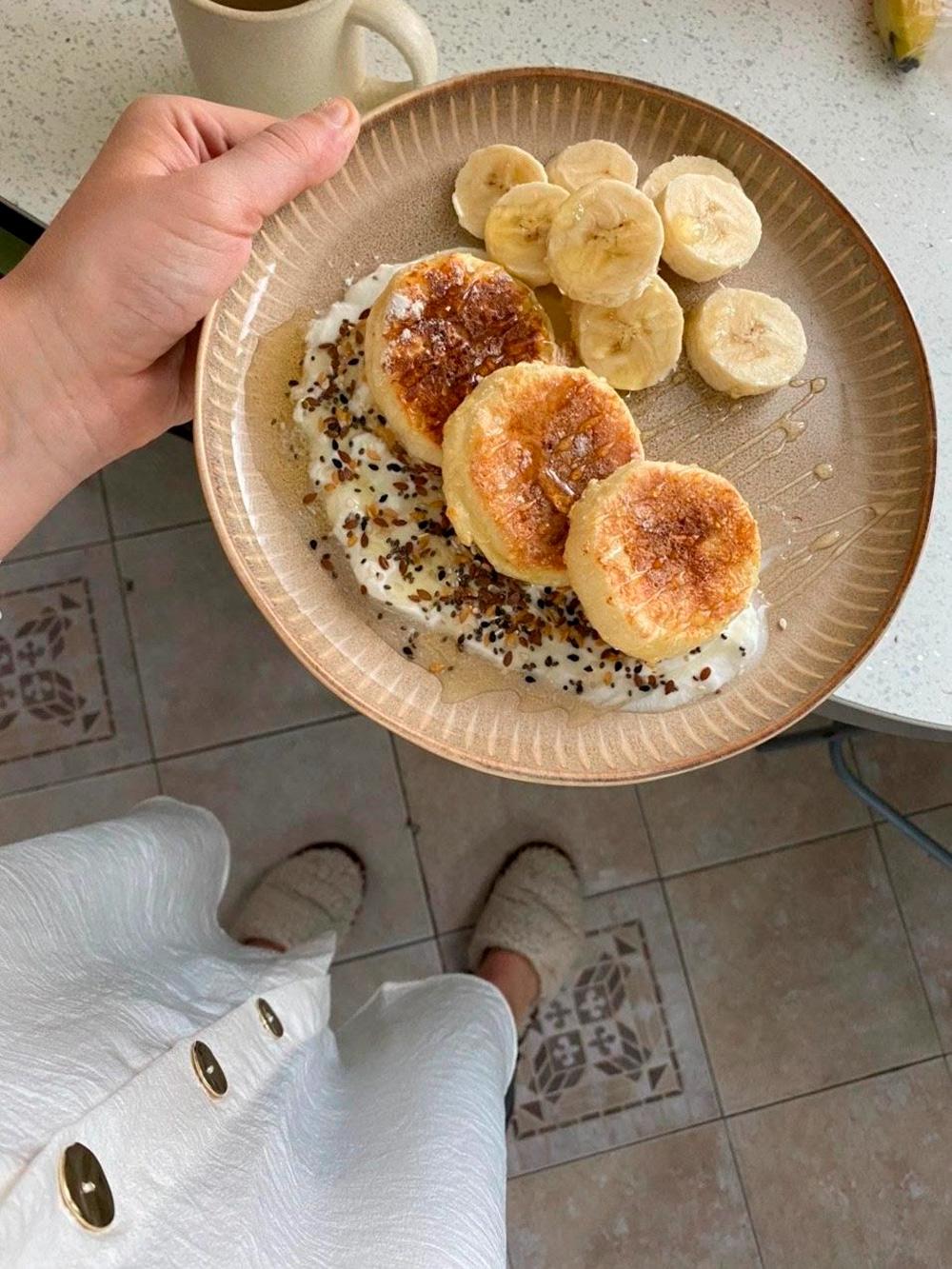 Приготовила сырники на завтрак