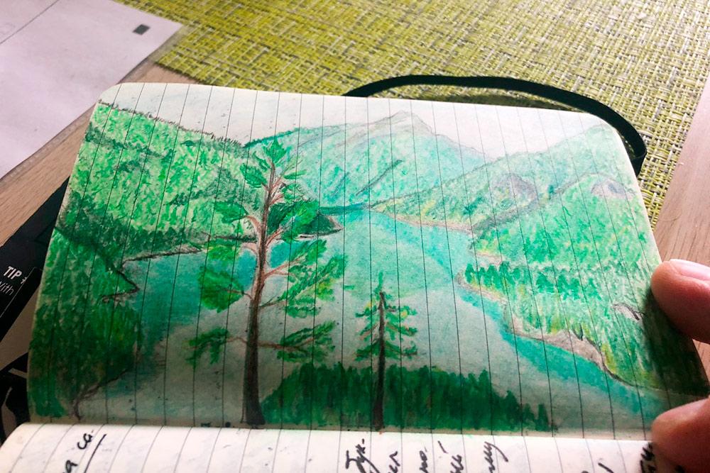 В дневнике иногда рисую