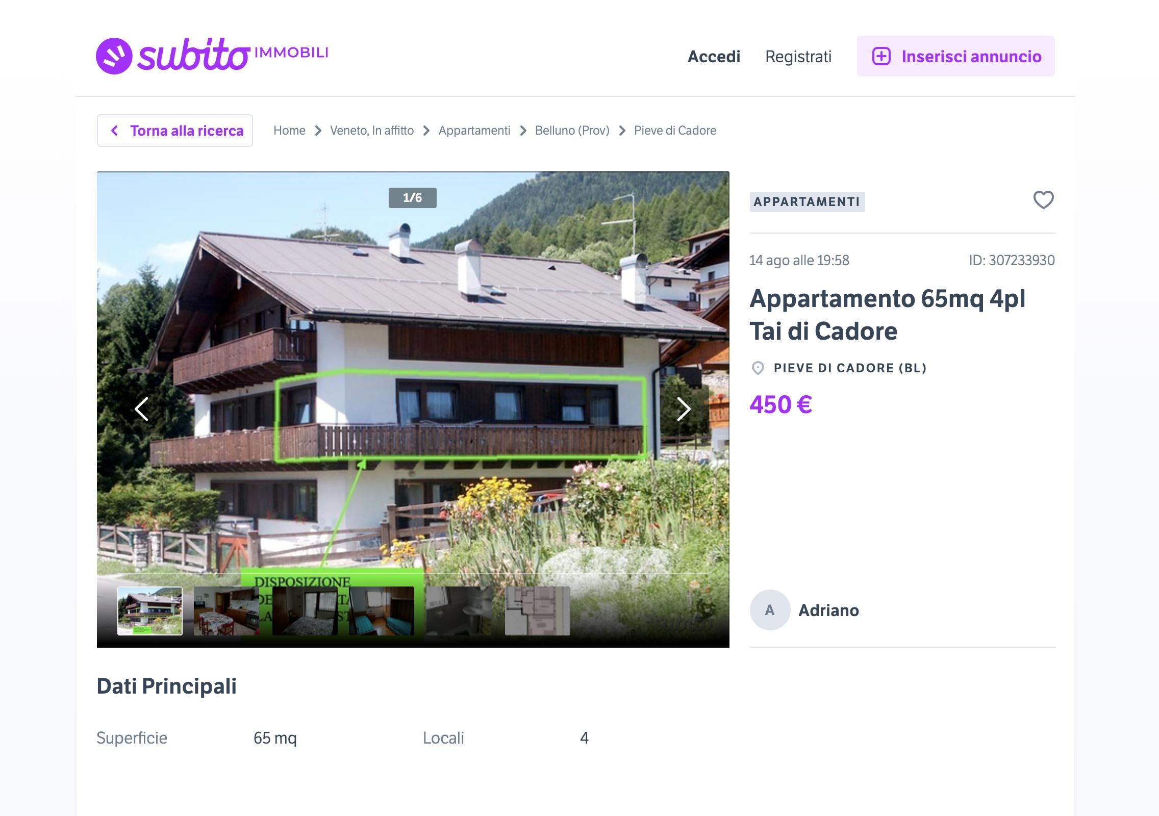 Вот в таком доме можно снять квартиру за 450€