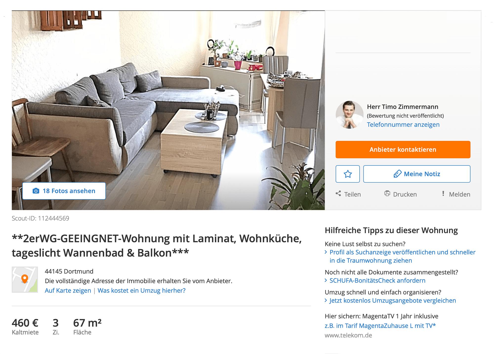 Отличная трехкомнатная квартира в центре города всего за 460€ в месяц. Так дешево, потому что квартира находится в неблагополучном районе, где проживает криминальный контингент и беженцы