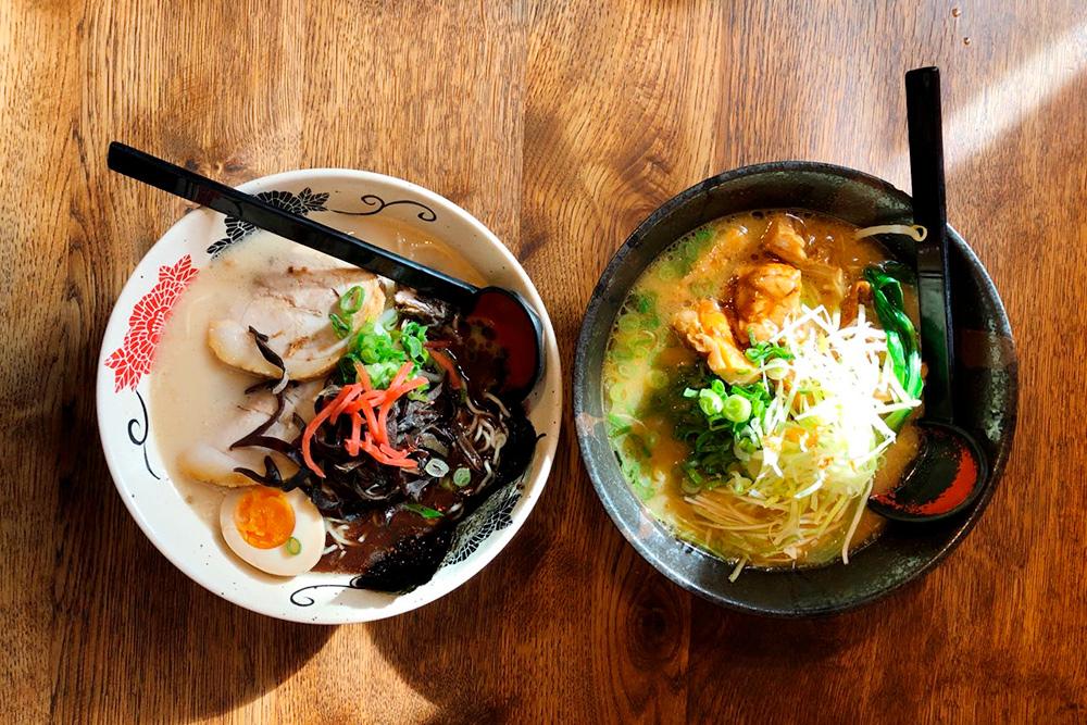 Так как в Дюссельдорфе самая большая японская община в Европе, там много японских ресторанов. Мы любим рамен — японскую лапшу с мясом или курицей и овощами. Цена варьируется от 10€ (750 рублей) за вегетарианский вариант до 16€ (1200 рублей) за огромную тарелку с мясом