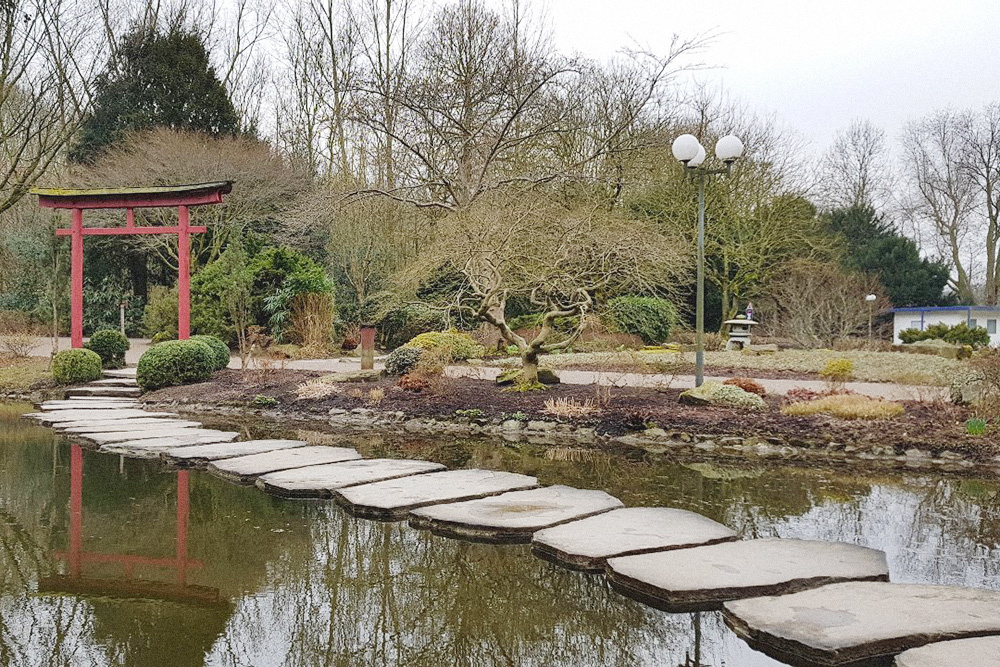 Японский садик в центральном парке Дортмунда, вход стоит 3,5€ (260 рублей)