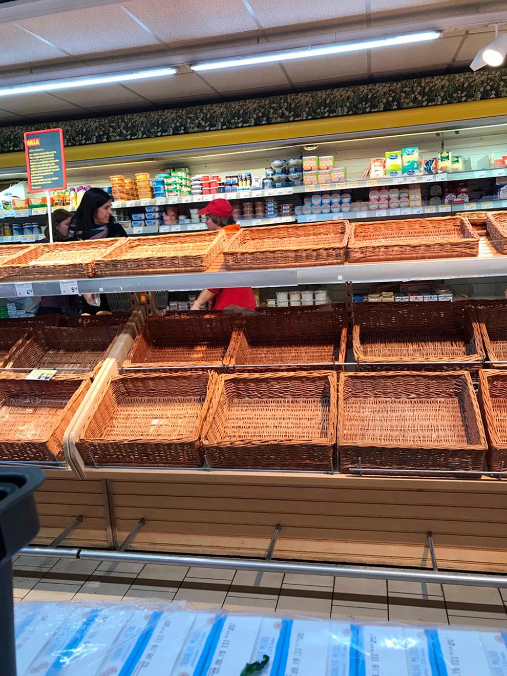 В первый день в Праге мы пришли за продуктами в 20:30, хлеба уже не было