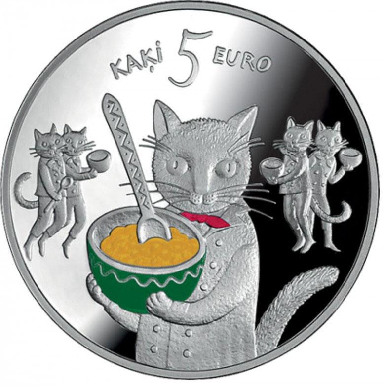 За 115€ можно купить серебряную монету с котами, выпущенную Банком Латвии