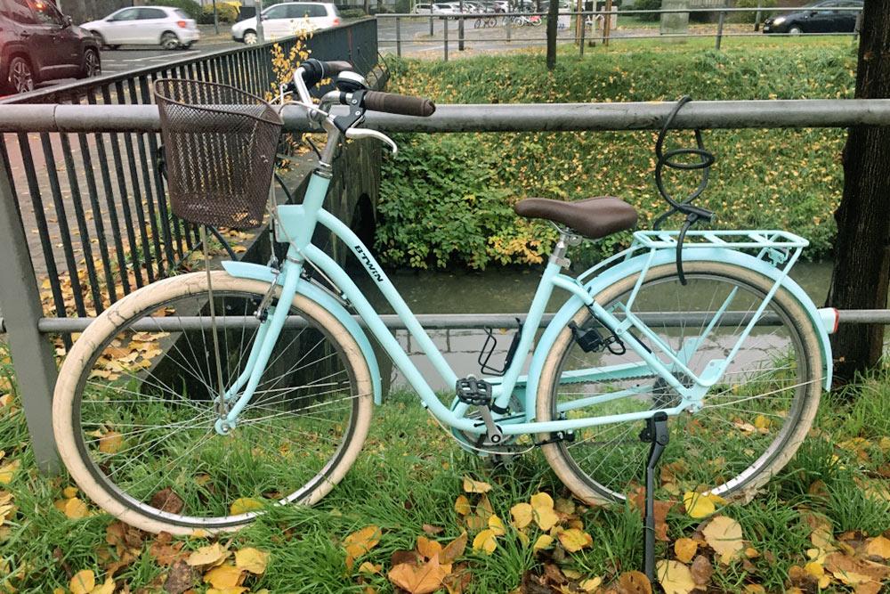 Чехол от дождя с моего велосипеда украли в первый день. В городе периодически идут сильные дожди, и я решила защитить от них велосипед, но тщетно