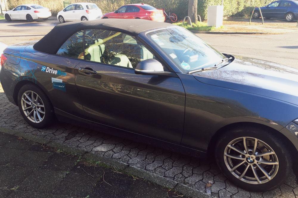 В Дюссельдорфе есть каршеринг Drive Now