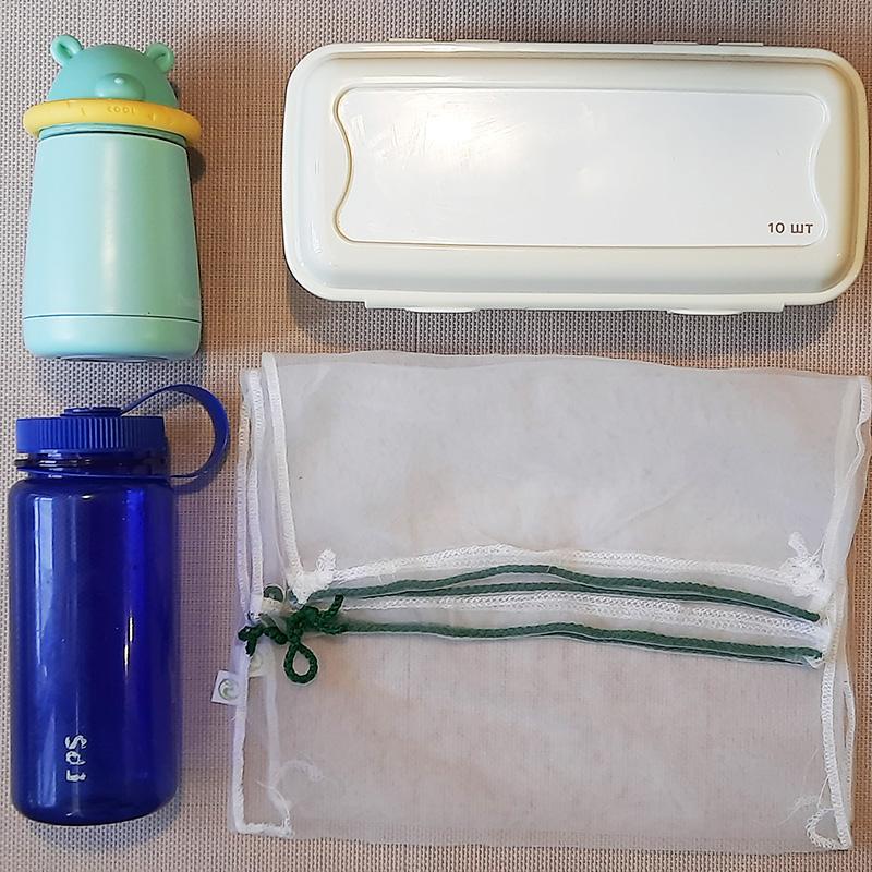 Мой термос, многоразовая бутылка, контейнер дляяиц и фруктовки