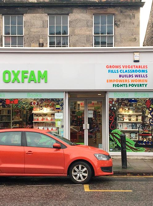 Благотворительные секонд-хенды в Эдинбурге
