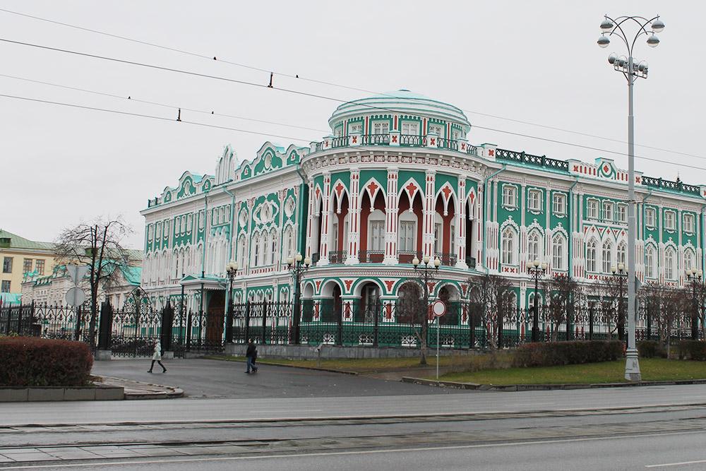 Дом Севастьянова. Фотография не передает всей его красоты, а в солнечную погоду он особенно хорош