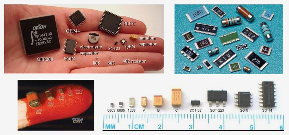 На печатных платах размещены такие электронные компоненты