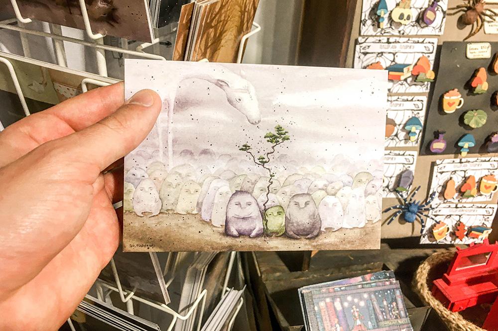 Мне понравилась открытка с акварельным рисунком за 100<span class=ruble>Р</span>
