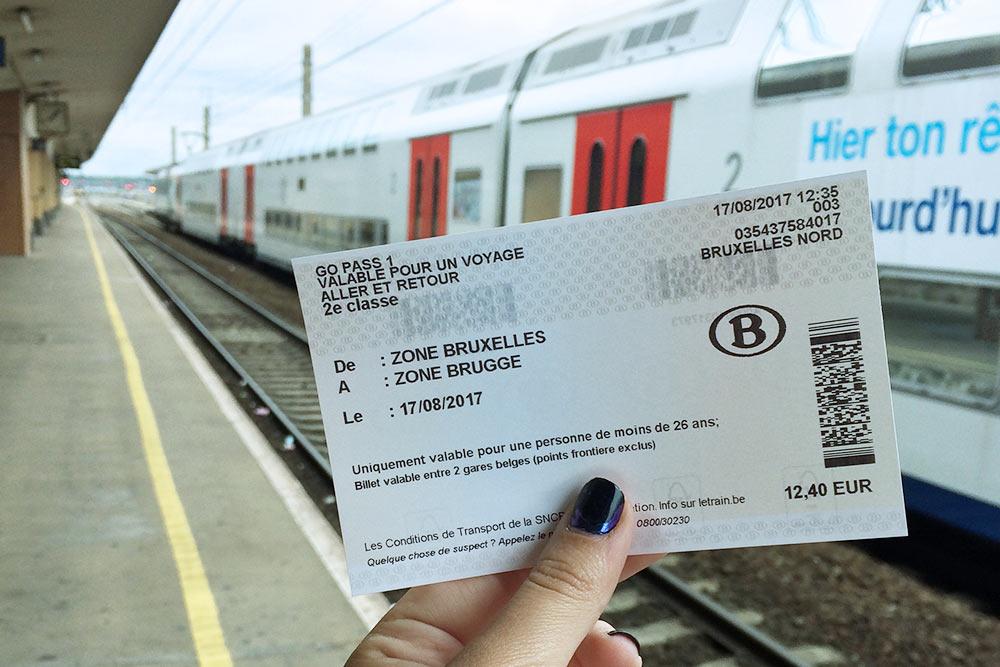 Тот самый молодежный билет туда иобратно изБрюсселя вБрюгге