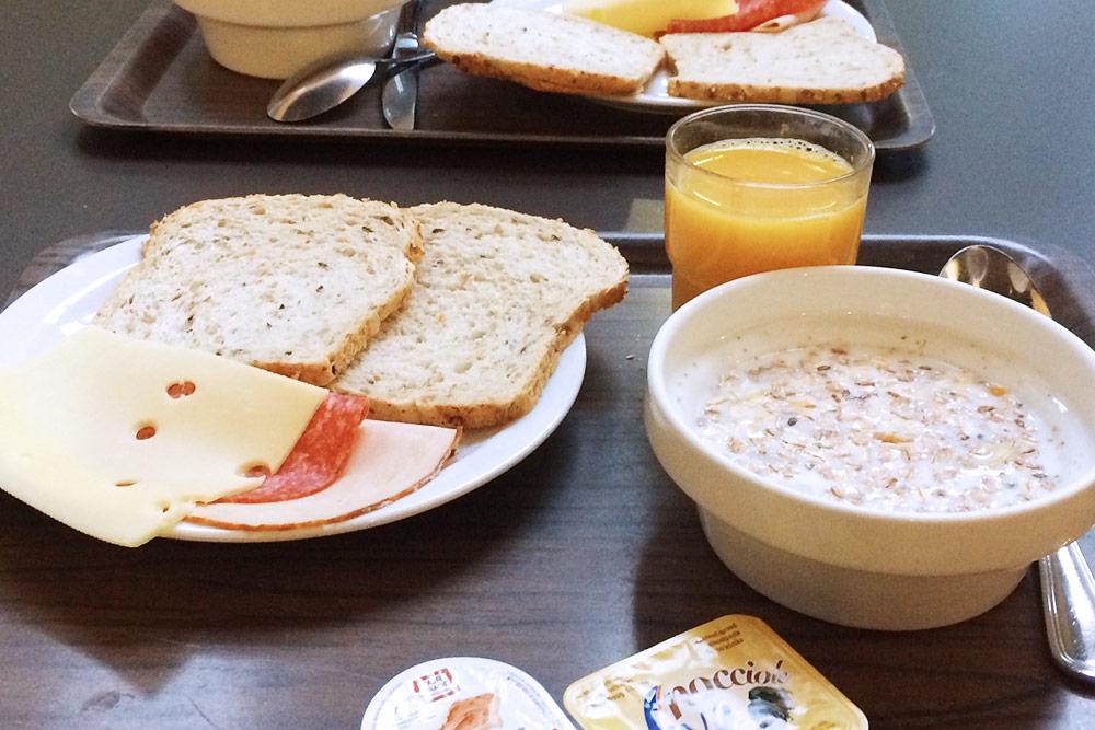 Завтрак вхостеле вБрюгге был включен встоимость проживания