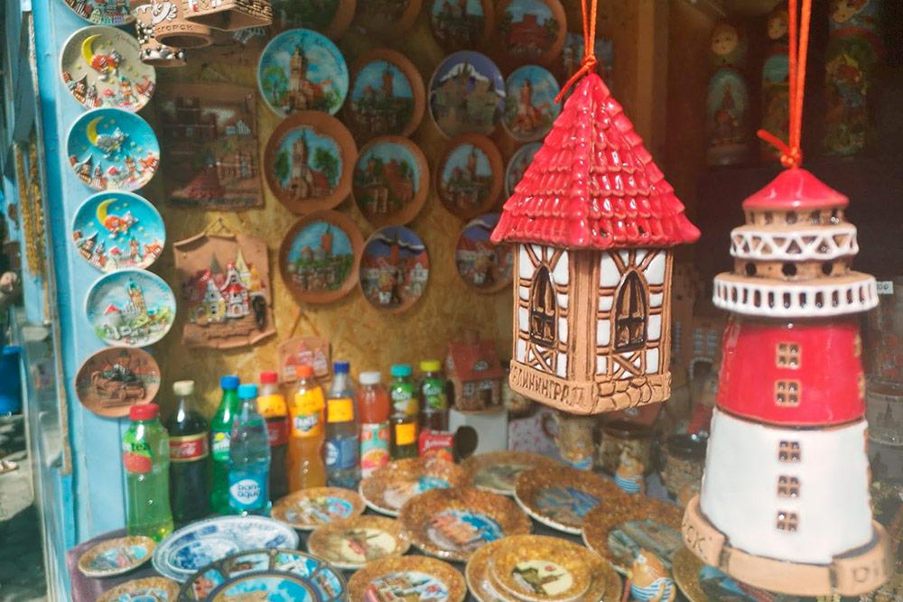 Вездесущий янтарь был почти на всех сувенирах в Калининграде