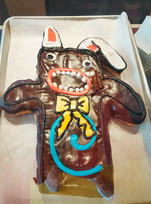 Пончик в виде кролика в в Vodoo Doughnut