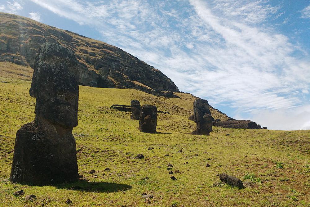 Статуи расположены повсему острову