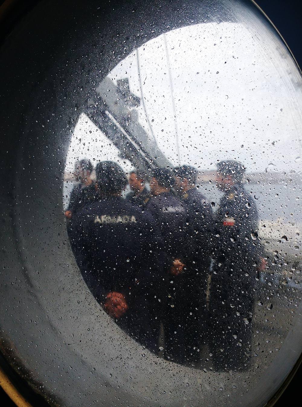 Планерка чилийских моряков
