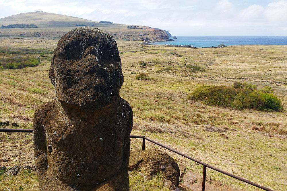 Общеизвестный стиль статуй появился несразу. Так выглядели моаи раннего периода