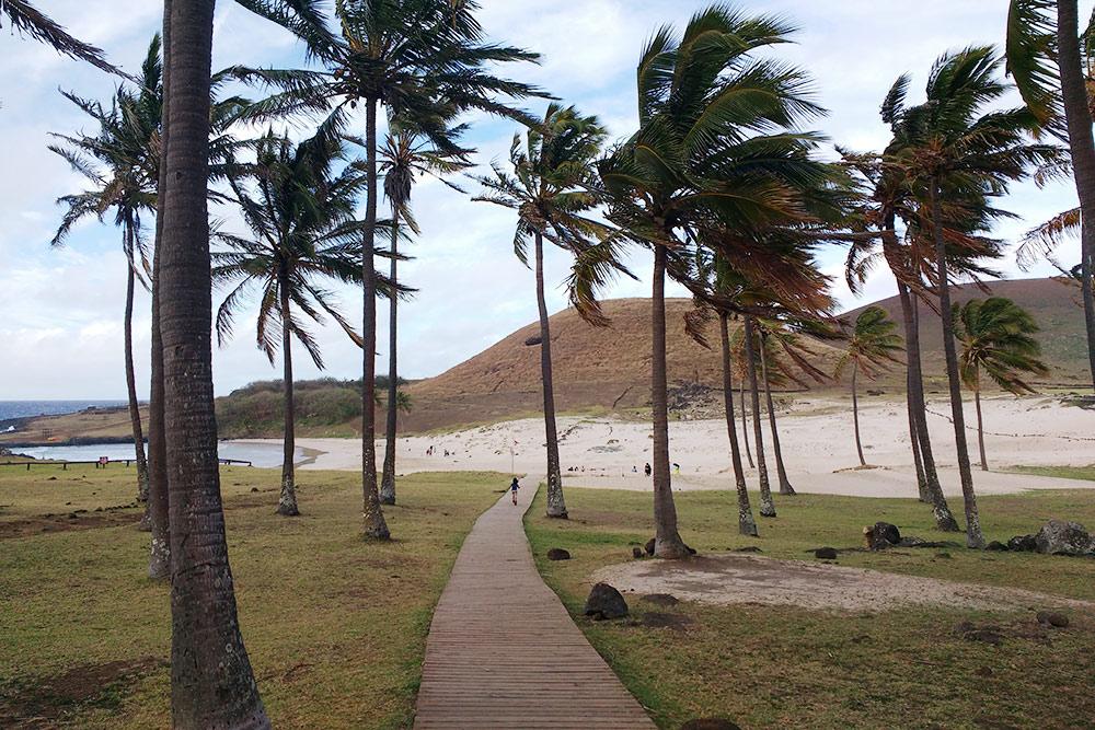 Пляж Анакена внесезон
