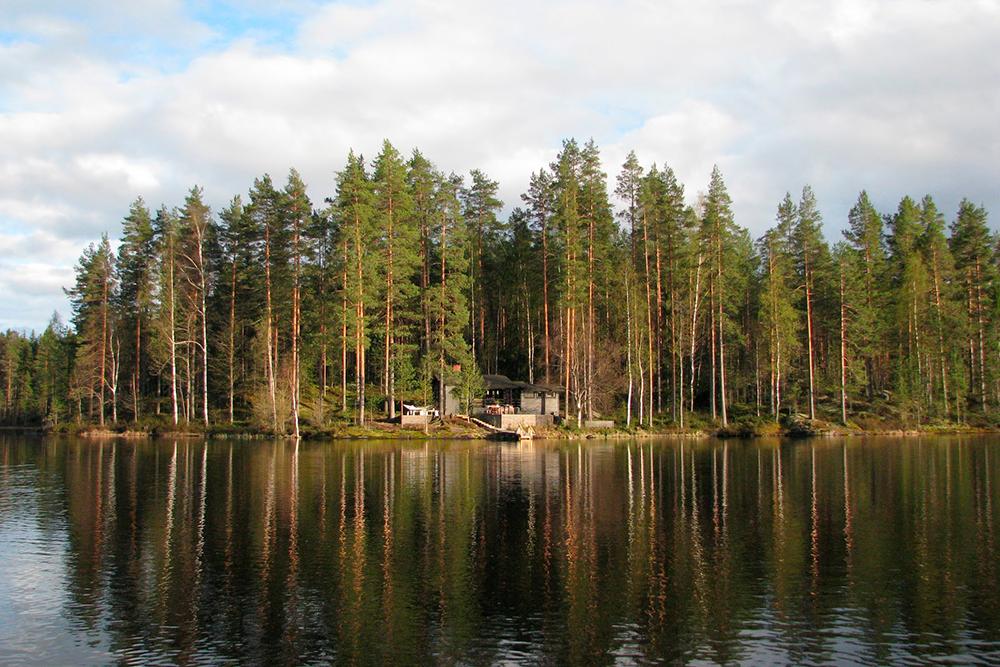 Маленький коттедж моих финских друзей на озере в регионе Южная Карелия, куда я приезжаю погостить каждый год. Вокруг на пару километров нет соседей