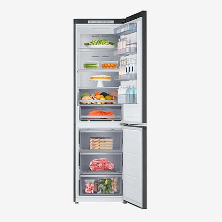 Обычный двухкамерный холодильник с морозилкой снизу