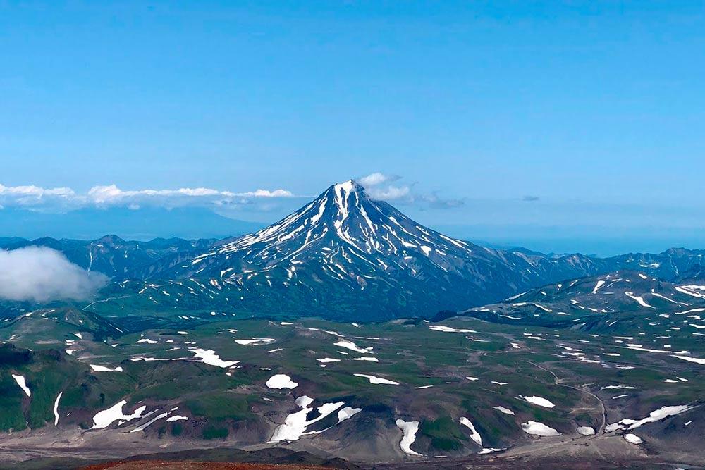 Вид на Вилючинский вулкан с Горелого