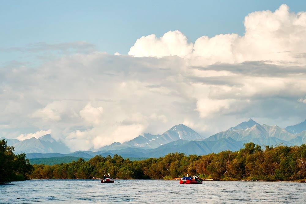 Нам повезло: во время сплава по реке стояла ясная погода. Источник: Эрнест Леонидов