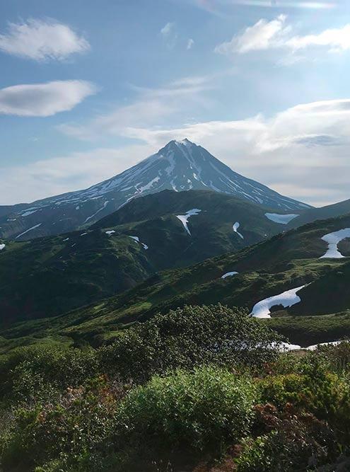 Вид на Вилючинский вулкан с Вилючинского перевала