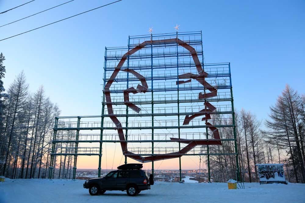 Памятник возведен на горе Ветлосян в 1970 году к 100-летию вождя мирового пролетариата. Источник: Zolder