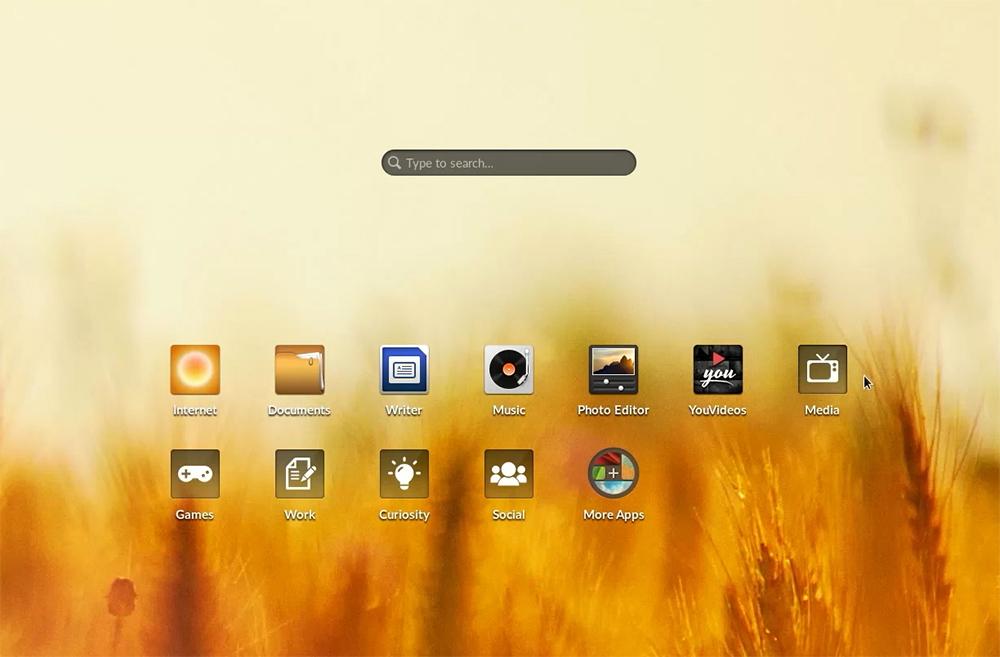 Так выглядит рабочий стол Endless OS