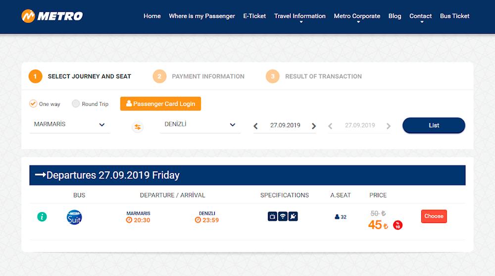 У Metro скидка 10%, билет на то же направление стоит 45 ₺ (499<span class=ruble>Р</span>)