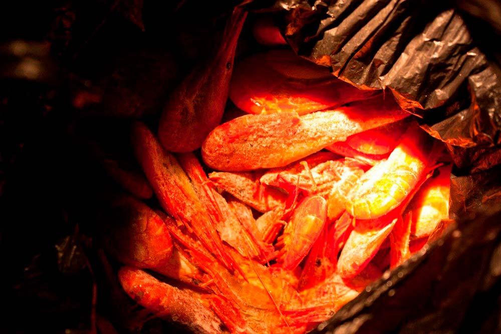 Креветки, пойманные на Сахалине