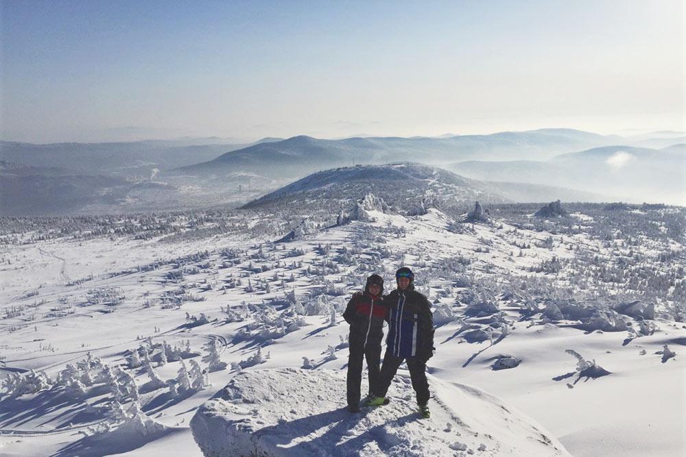 Вид с горы Курган — мой любимый в Шерегеше