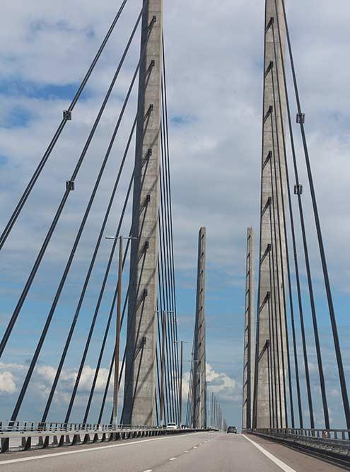 Эресуннский мост, соединяющий шведский Мальмё и датский Копенгаген