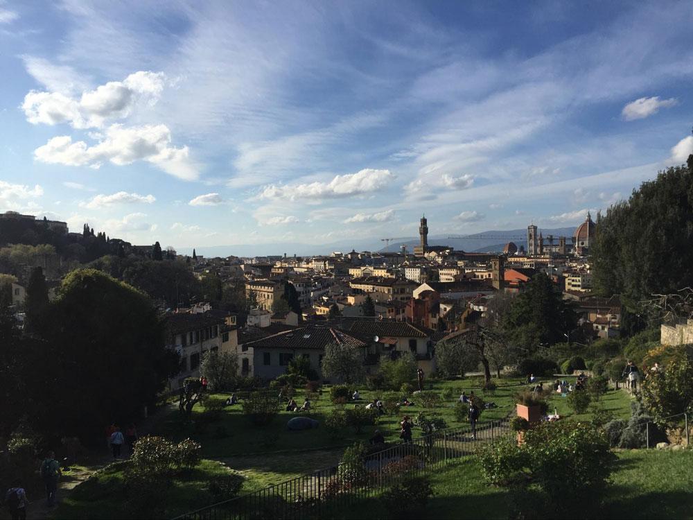 Вид на Флоренцию из Сада роз