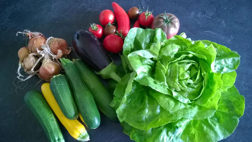 Свежие местные овощи, 8,5€ за все
