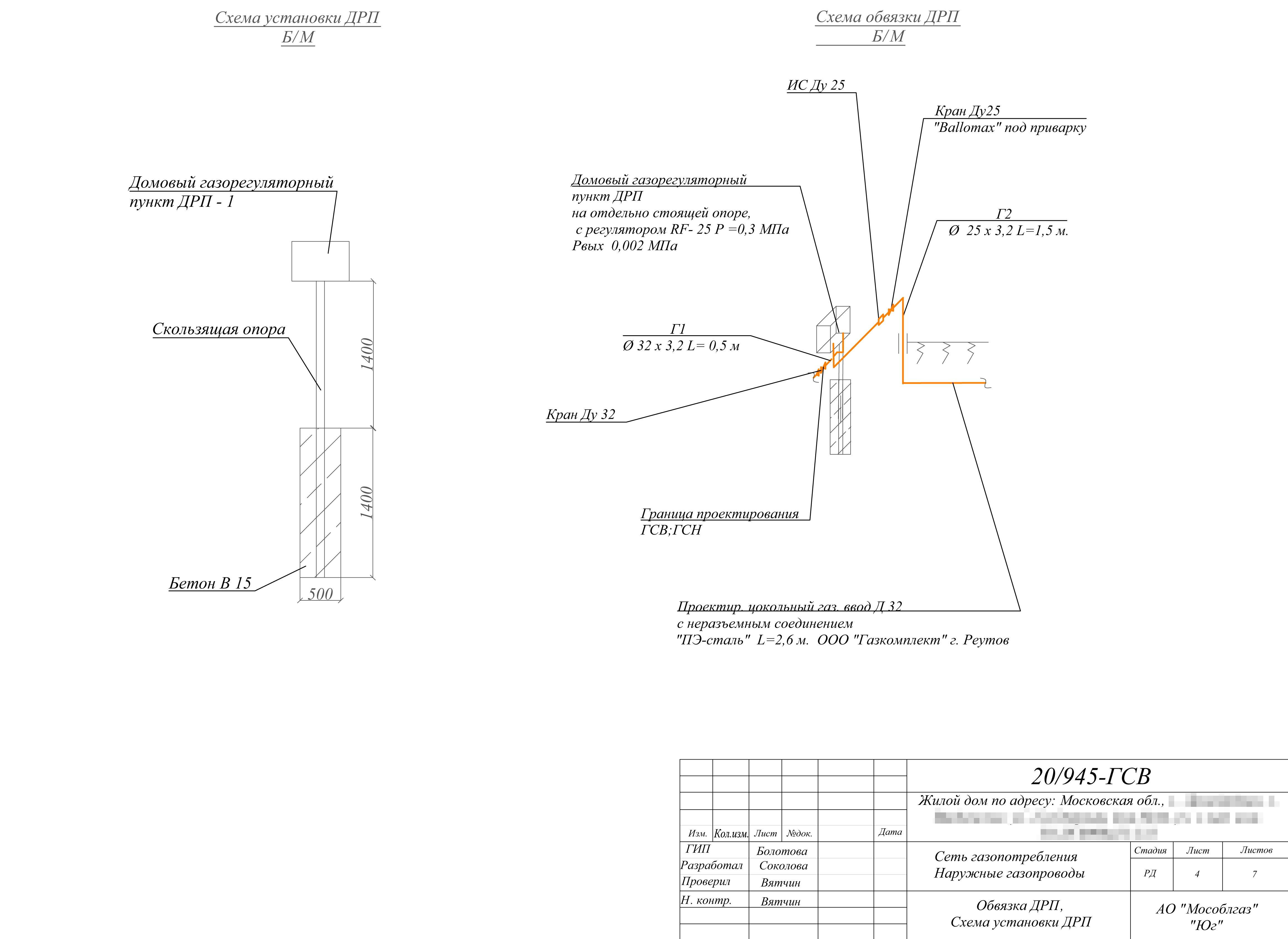 Схема расположения и установки газорегуляторного пункта — желтый ящик рядом с домом, в котором меняется давление газа с высокого или среднего на низкое