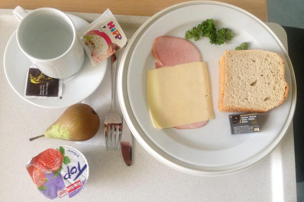 Завтрак в роддоме выглядел вот так