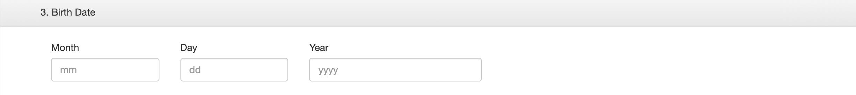 В анкете другой порядок написания дат: месяц, день, год