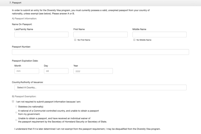 Если вы не можете заполнить информацию о загранпаспорте, укажите причину: отсутствие гражданства, невозможность получения паспорта в коммунистическом государстве или отказ в выдаче