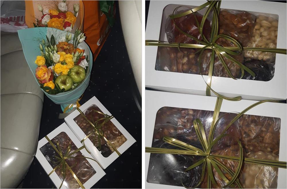 Это&nbsp;подарки воспитателям в&nbsp;сад — орешки и&nbsp;витаминные букеты. Родители скидываются по&nbsp;1500&nbsp;<span class=ruble>Р</span> в&nbsp;учебный&nbsp;год сразу на&nbsp;все&nbsp;праздники — из&nbsp;этих денег покупают подарки воспитателям и&nbsp;детям. Фото: Максим Савидов