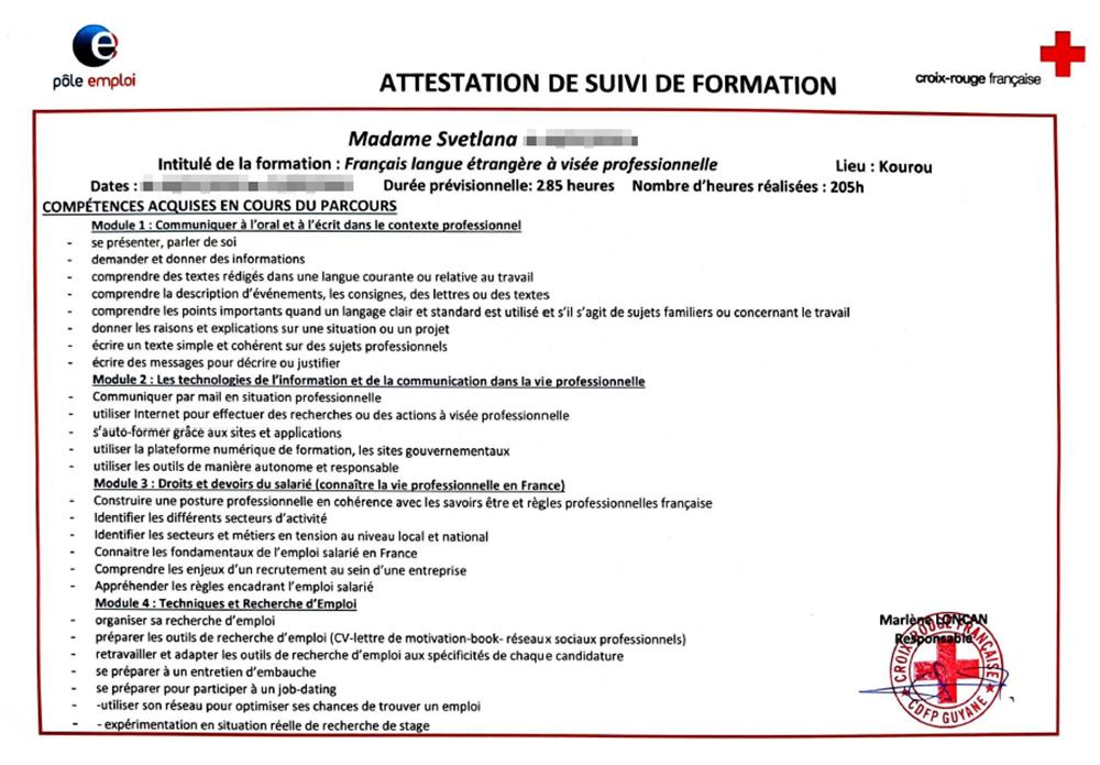 Диплом французского формасьона FLE