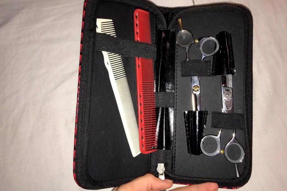 Простые ифилировочные ножницы ирасчески длястрижек