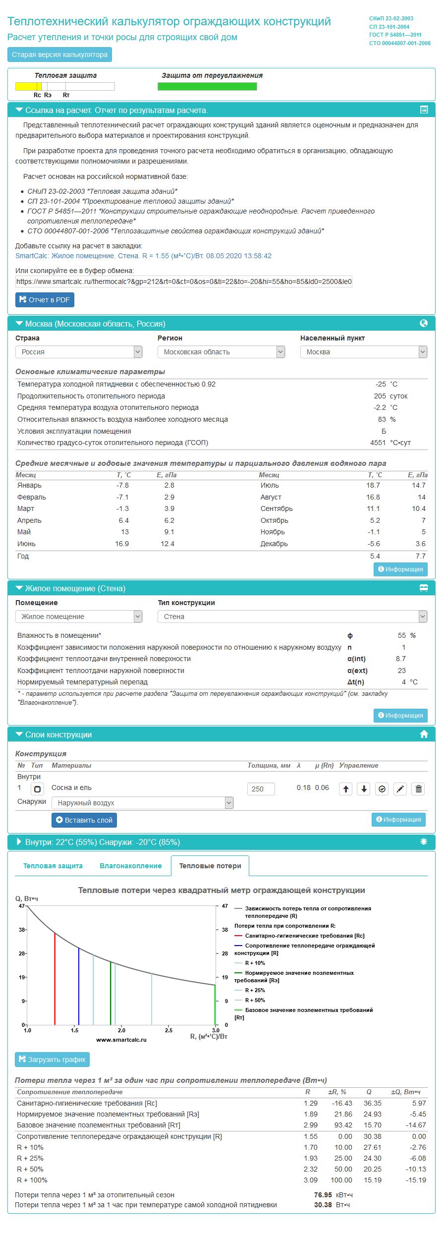 Калькулятор выглядит очень сложным, но вводить данных нужно не очень много — остальное вычисляется автоматически и выводится длясправки