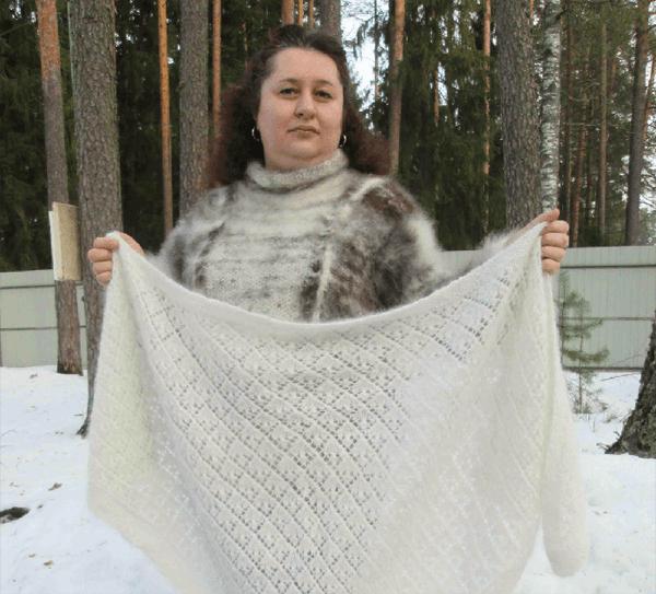 Наталия Новикова, вяжет вещи из собачьей шерсти